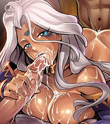Steamy anime blowjob pics - cute girls fucking and sucking.