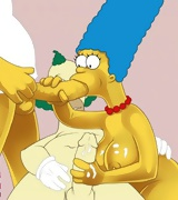 Sexy Marge from the Simsons cartoon sucking dick,  Marge fucking clown