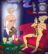 Futurama characters in great orgies, Sexy leela in bondage, bender fucking and others
