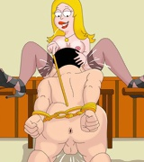 Kinky BDSM switches from American Dad toon. Stan and Francine Smith love hurting each other in bed