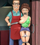 BDSM with sexy milf Peggy Hill