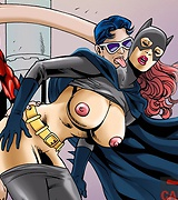 Batgirl fucks with good and evil guys pictures