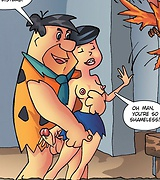 Betty Rubbles on Fred Flintstone porn pics
