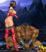 Femdom fatality show from Mortal Kombat xxx pics