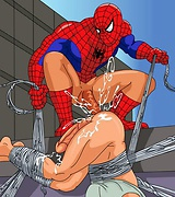 Gay brute Spider-Man fucking groaning male villains kinky sex pics