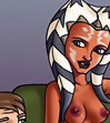 Hot babe from Star Wars: The Clone Wars