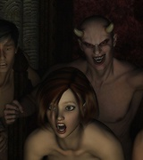 Demons and futanari, aliens and hungry for sex monsters. Horny creatures fuck sexy babes.