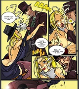 Filthy desert roamer attacks a sexy witch sex comics