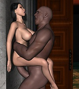 Super sweet busty chick brutally fucked by a giant with a black monster cock.  Skinny aliens fuck a girl, hot fantasy sex action!
