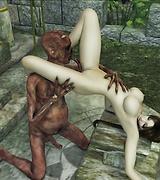 Hot Sex action with Lara Croft
