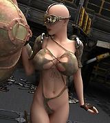 3D porn - sci-fi big tits pics