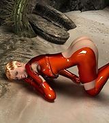Latex suit babe - Fallout 3D porn