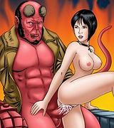 Horny Hellboy porn hot sex
