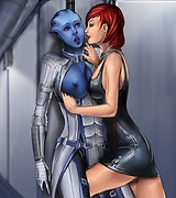 Nude female elves, Mass Effect's Shepard fucks Liara T'Soni, Seven of Nine of Star Trek showing her breasts, delicious redhead bares almost all