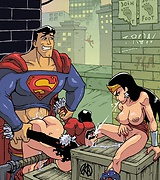 DC superheroes orgy porn - Superman, Batman