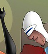 Elastigirl opens ass for Frozone while Mirage is cumming on Bob Parr's cock