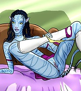 Navi from Avatar Movie in white stockings xxx