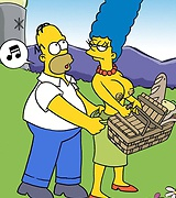 Simpsons in topless picnic - xxx toons