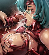 Anime girls have deep throats and wet velvet lips so they can make hottest blow jobs.