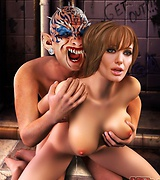 Evil green-skinned orcs caught sexy white skinned girl. Horrible monsters penetrating perfectly wet lustful pussies of sexy ladies with their monster cocks.