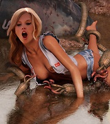 Famous girls fucked by tentacle monsters