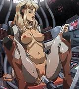 Manga babes masturbate fucking machines