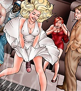 Shemale surprise comics - a hot babe has a huge black cock.