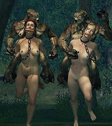 Aliens attack Earth and fuck every chick in every warm place she has, naked babes caught by monsters.
