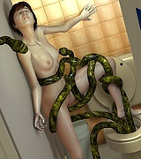 Sensation 3D tentacle attacks young women
