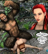 Giant gorillaman fucks a girl in the forest