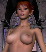 Fanatsy xxx - red-haired elf armed with a sword