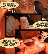 The Infernal Convent 3D sex comics: Demon watch ladies having sex