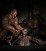 Brutally fucked ebony sluts