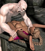 Horny white monster fucking a sexy blond girl with perfect body. More of tentacles and aliens.