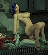 Hard sci-fi fucking - sex with an alien