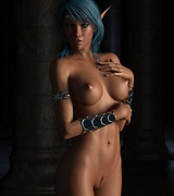 Lustful 3d elf babes in sexy lingerie
