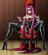 Dark Gothic mistress dominates